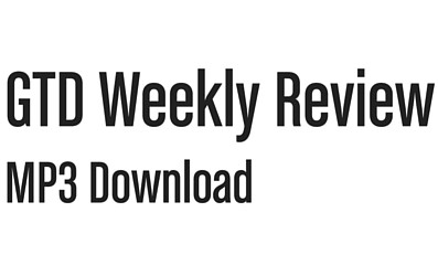 GTD Weekly Review - MP3 download