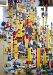 Lego rockets at NASA's Kennedy Space Center